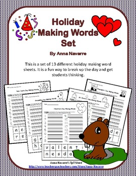 Holiday Making Words