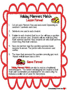 Holiday Manners Match by Counseling from the Heart