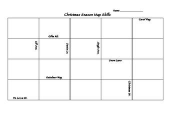 Holiday Map Skills