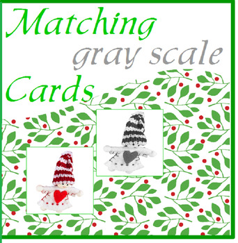 Holiday Matching Cards with Gray Scale