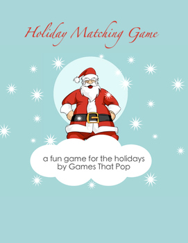 Winter Concentration Game - Elementary Sight Word Fluency