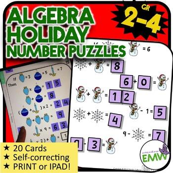 Christmas Math Logic Puzzle Activity