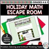 Holiday Math Activities | Digital Christmas Escape Room