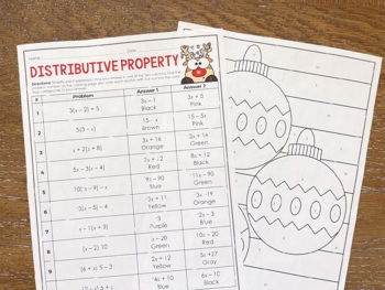 Christmas Math Activities for Middle School by Lindsay ...