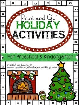 Holiday Math Activities for Preschool and Kindergarten