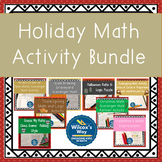 Holiday Middle School Math Activity Bundle