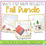Fall Math Activity Bundle | Decimals and Fractions