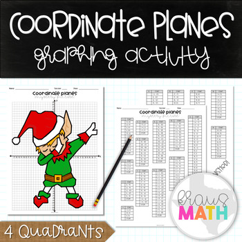 Holiday Math Activity: Coordinate Plane Graphing Activity: Elf Dab!