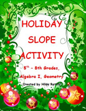 Holiday Math Activity - Plotting Points and Finding Slope