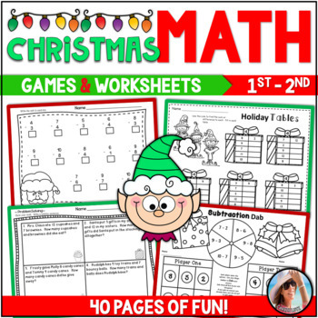 Holiday Math ~ Addition & Subtraction  {Over 40 Pages of Math Fun!}