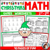 CHRISTMAS Math Worksheets ~ Addition & Subtraction  40 Pag