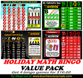 Holiday Math Bingo Value Pack
