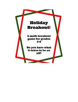 Holiday Math Breakout
