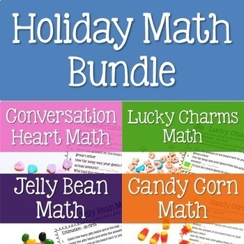 Holiday Food Hands-On Math Bundle for Upper Elementary