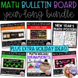 Holiday Middle & High School Math Bundle - Classroom Decor and Bulletin Boards