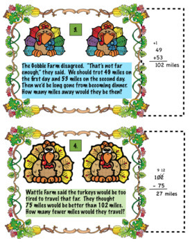 Holiday Math Bundle for 2nd Grade:  Halloween, Thanksgiving, Christmas