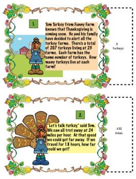 Holiday Math Bundle for 5th Grade:  Halloween, Thanksgiving, Christmas