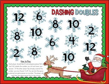 Holiday Math Center Freebie