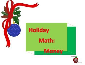 Holiday Math Center: Money
