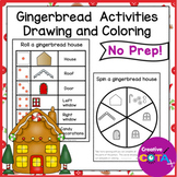 Holiday Math Center Roll a Gingerbread House