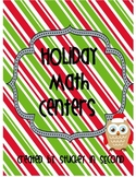 Holiday Math Centers (5 Centers!)