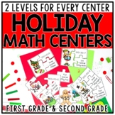 Christmas Holiday Math Centers & Games for 1st & 2nd Grade