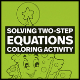 Holiday Math Color by Number:  Solving Two-Step Equations