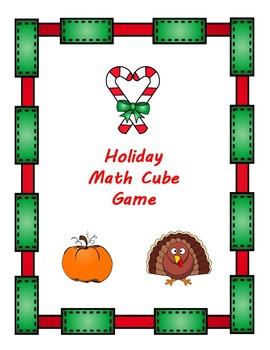 Holiday Math Cube Game Bundle