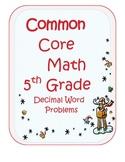 Holiday Math - Decimal Word Problems