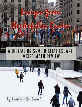 Holiday Math Digital Escape- Upper Elementary Grades Mixed Review