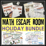 Holiday Math Escape Room Bundle