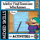 Winter Math Find Someone Who {free}