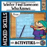 Winter Math Finding a Classmate {free}