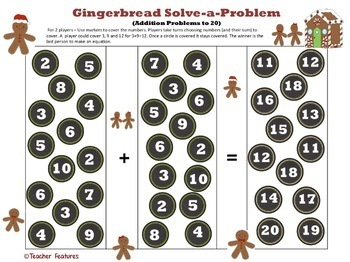 Christmas Math Activities ADDITION & SUBTRACTION FOR 1ST GRADE