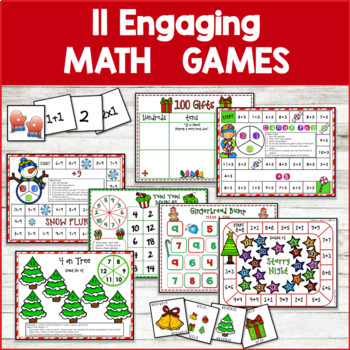 Christmas Math Games | Winter Math Games | Adding