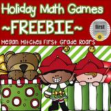 Holiday Math Games... Freebie