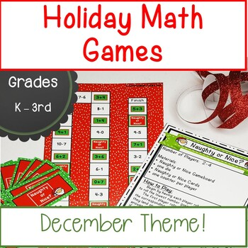 Holiday Math Games for December