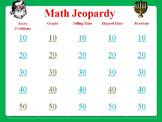 Holiday Math Jeopardy