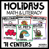 Holiday Math & Literacy Centers {MEGA BUNDLE} for PreK and