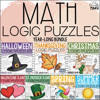 Math Logic Puzzles for the Entire Year