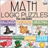 Math Enrichment: Math Logic Puzzles Bundle