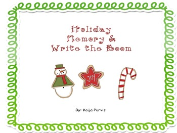 Holiday Math Memory & Holiday Write the Room