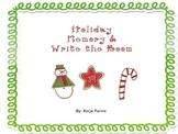Holiday Math Memory & Holiday Write the Room