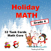 Holiday Math  Multi-digit Problems  Add, Subtract, Multiply, Divide -  Grade 4