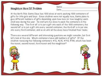Holiday Math - Naughty or Nice Elf Problem