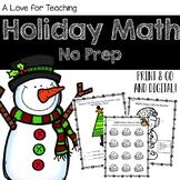 Holiday Math {No Prep + Digital}
