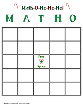 Holiday Math-O-Ho-Ho-Ho! Christmas Math FREEBIE