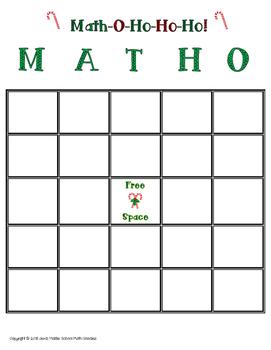 Holiday Math-O-Ho-Ho-Ho! Christmas Math FREEBIE