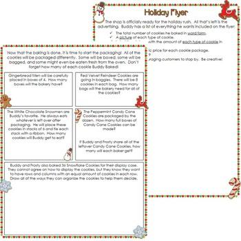 Christmas Math Performance Task