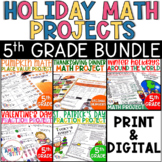 Holiday Math Projects BUNDLE | 5th Grade